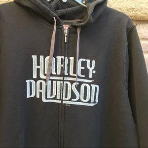 Harley-Davidson Jackets & Coats - HARLEY-DAVIDSON Men's Zip Up Hoodie Size 2X EUC